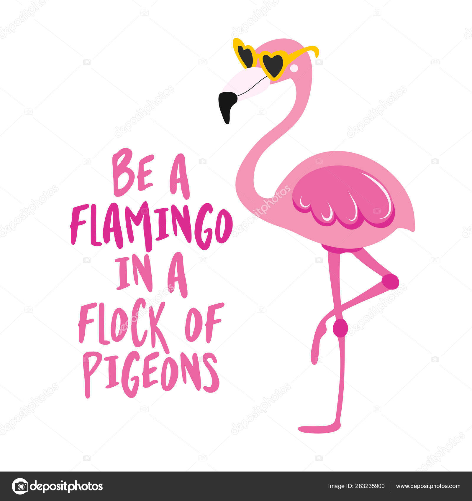 39+ Be A Flamingo In A Flock Of Pigeons SVG