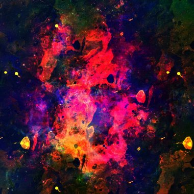Colorful Watercolor Abstract blue pink green background. Multicolor grunge psychedelic pink blue texture with spots. Multicolor style digital painting. Blurred chaotic brush and tie dye pattern. Hand painting fabrics