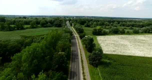 Lövés a vidék, a közúti, légi drone
