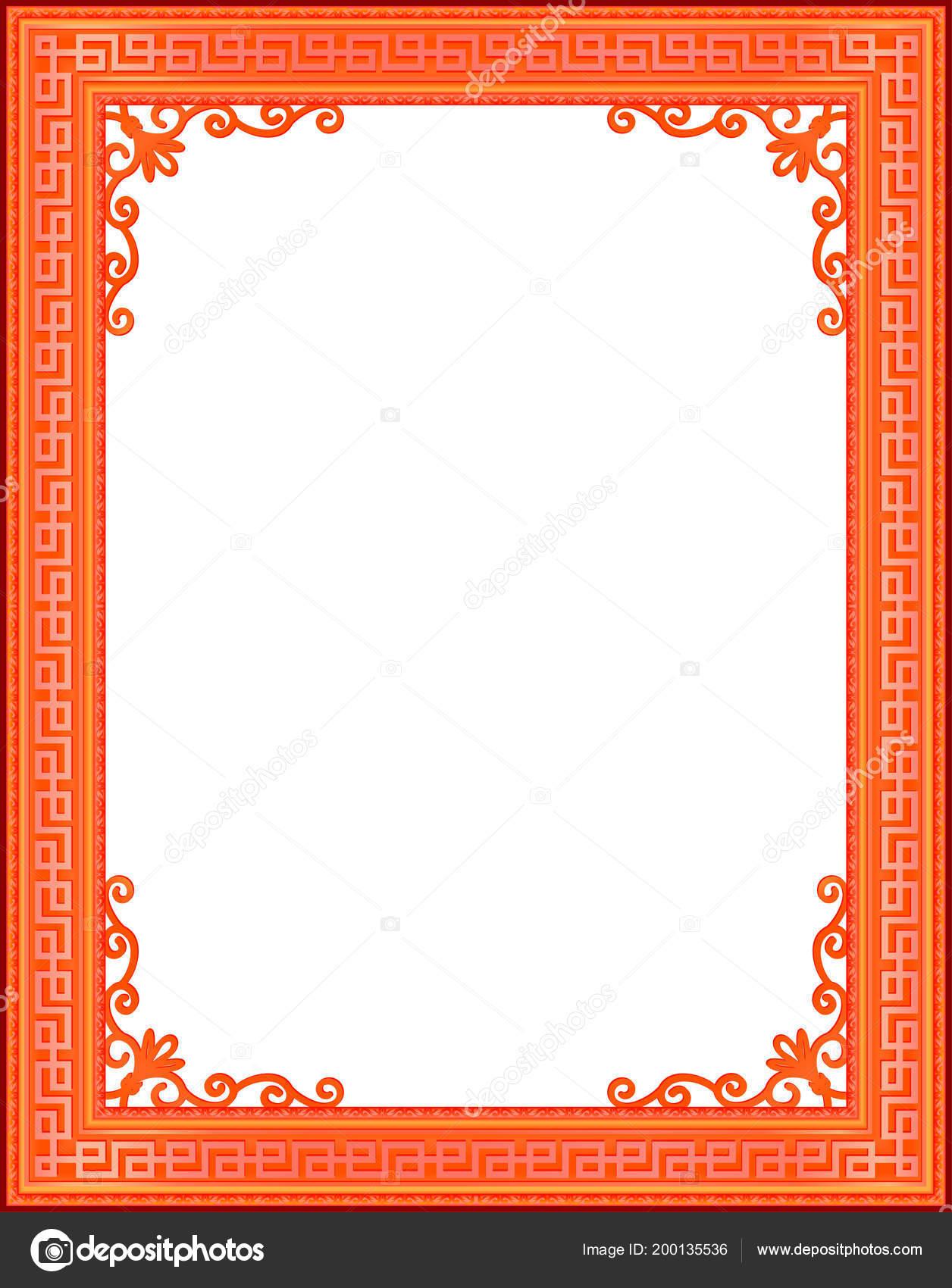 Rahmen Mit Ecke Thailand Linie Blumen Für Bild Vektor Design ...