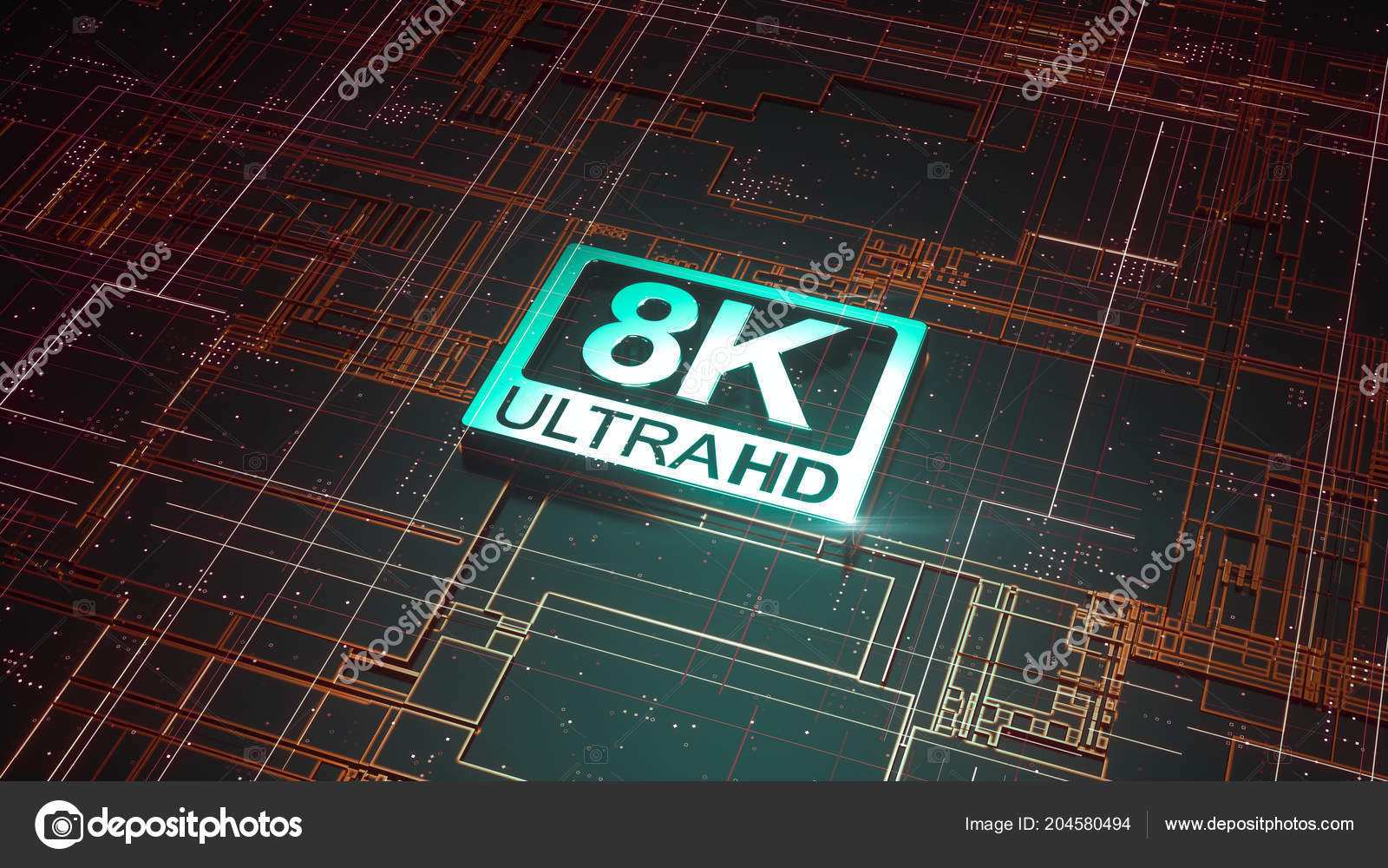 Ultra Symbol Abstract Electronic Circuit Board Television Technology