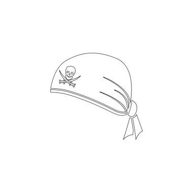 Pirate Bandana. flat vector icon