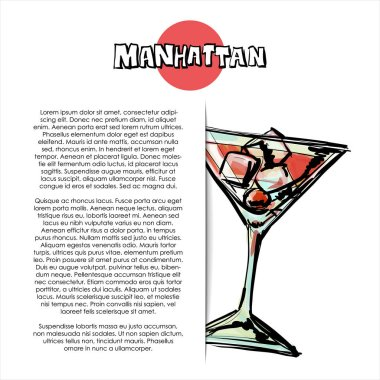 Manhattan Cocktail Free Vector Eps Cdr Ai Svg Vector Illustration Graphic Art
