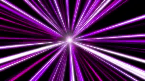 Entering Purple Space Warp Abstract Background With Fast Flying Light Streaks Speed Line Stripes Flying Into Glowing Tunnel
