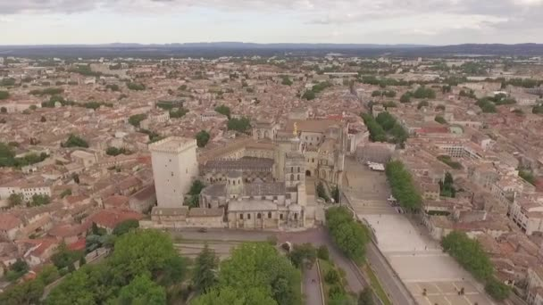 Aerial view of Avignon, Popes Palace, Provence, South of France