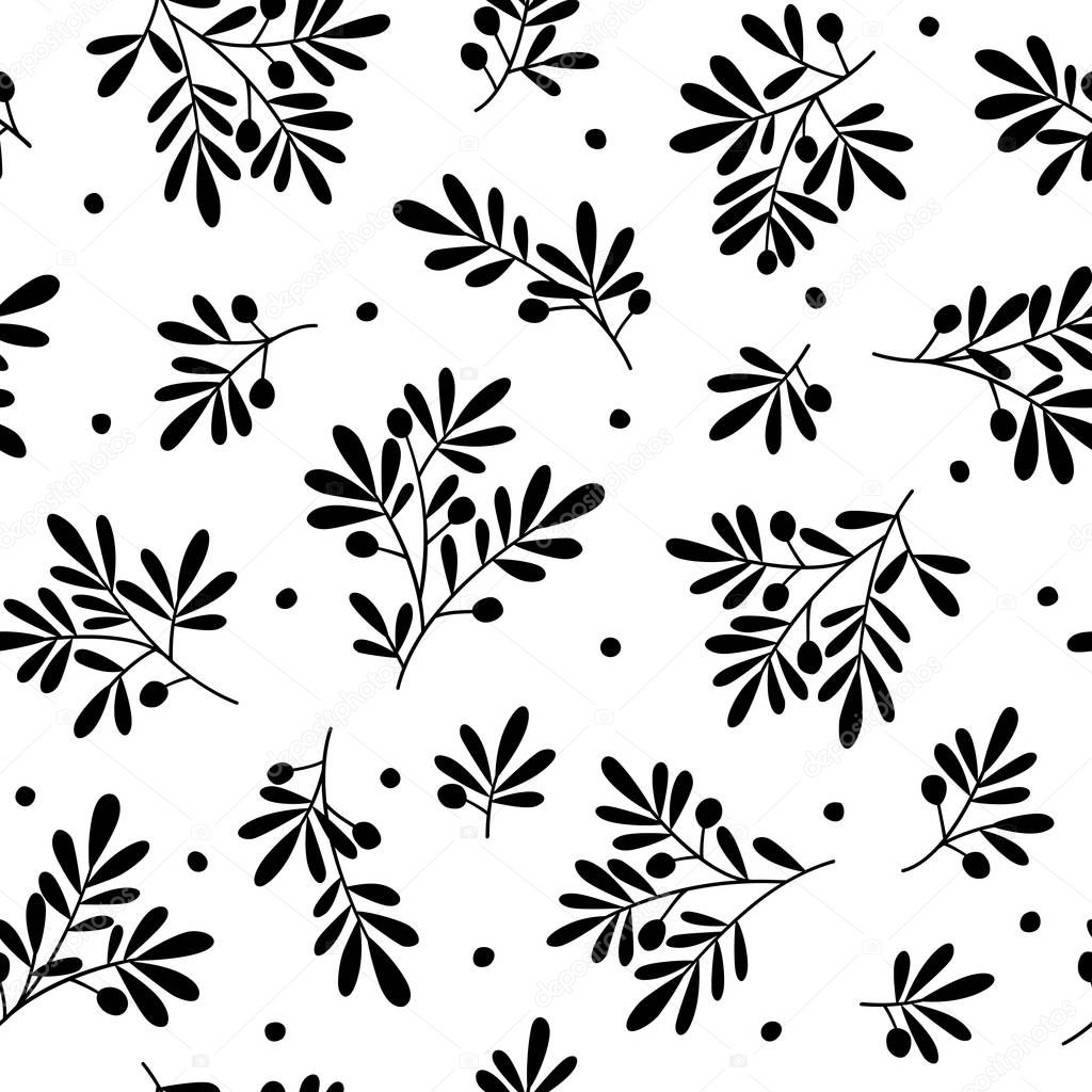 Illustration pattern of the leaf,These designs continue seamlessly