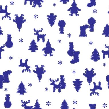Christmas image illustration pattern,I matched snow with the illustration of the Christmas image,I continue seamlessly,