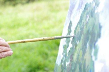 "Картина, постер, плакат, фотообои ""рисование картин маслом природного ландшафта на белом картоне картина натюрморт арт"", артикул 292601714"