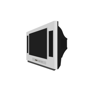 Isolated modern lcd television technology device , illustration icon