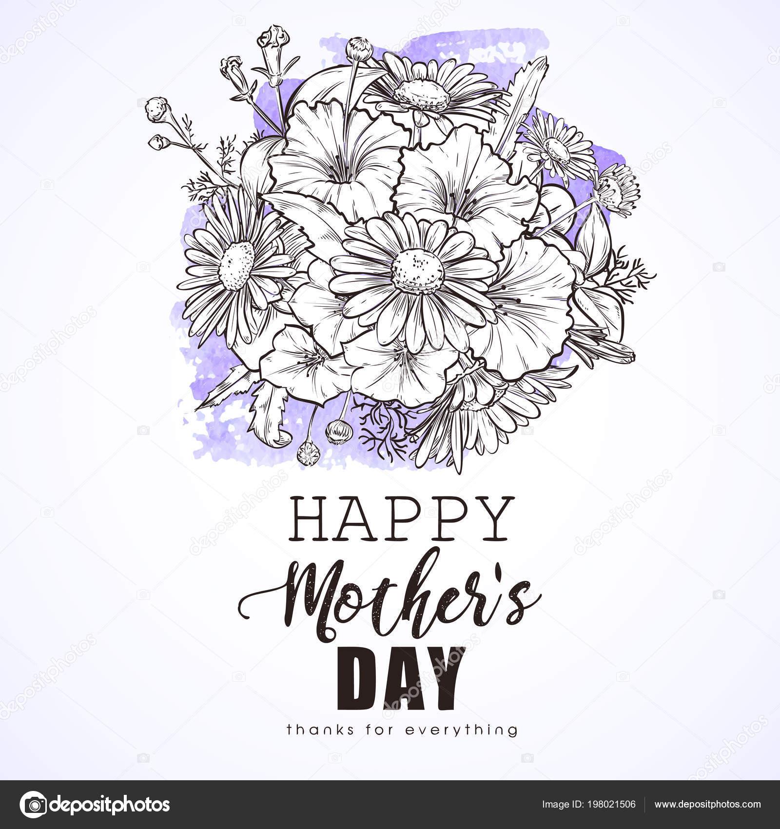 Anneler Günü Tebrik Kartı Stok Vektör Netkoff 198021506