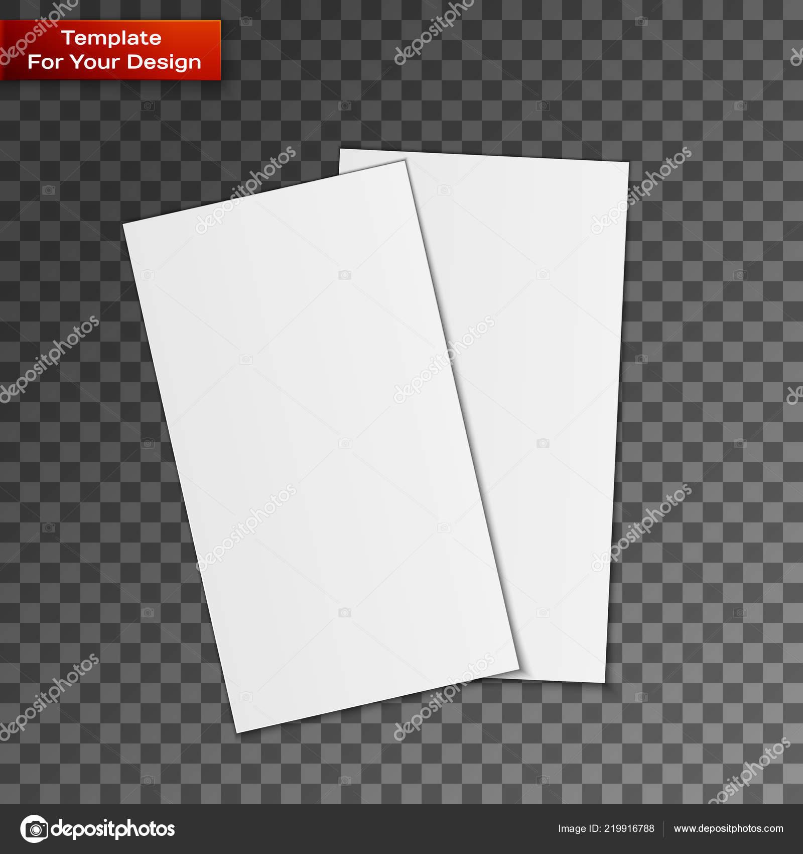 Leere Visitenkarten Auf Transparenten Hintergrund