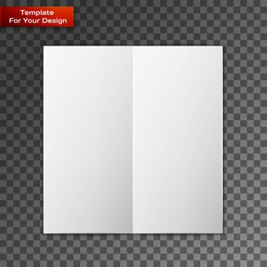 Close up of a leaflet blank white paper