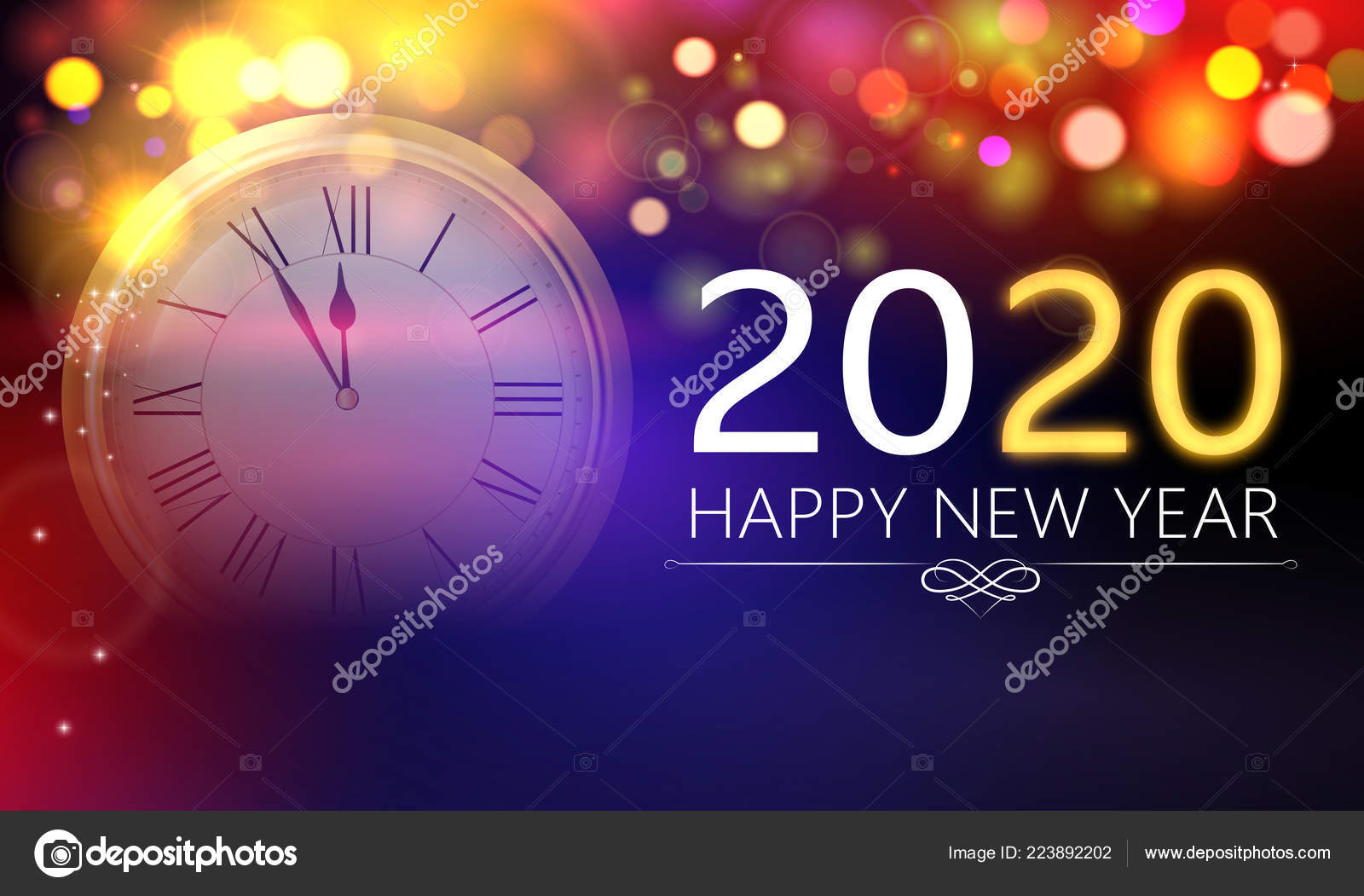 Merry christmas and happy new year 2020 banner Vector ...