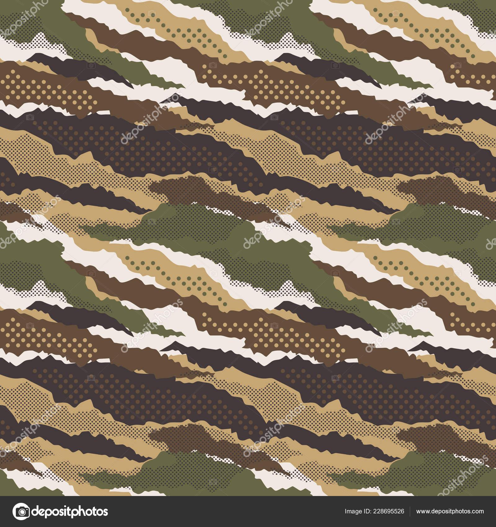 Carta Da Parati Mimetica.Reticolo Senza Giunte Del Carta Parati Astratta Mimetico Camouflage