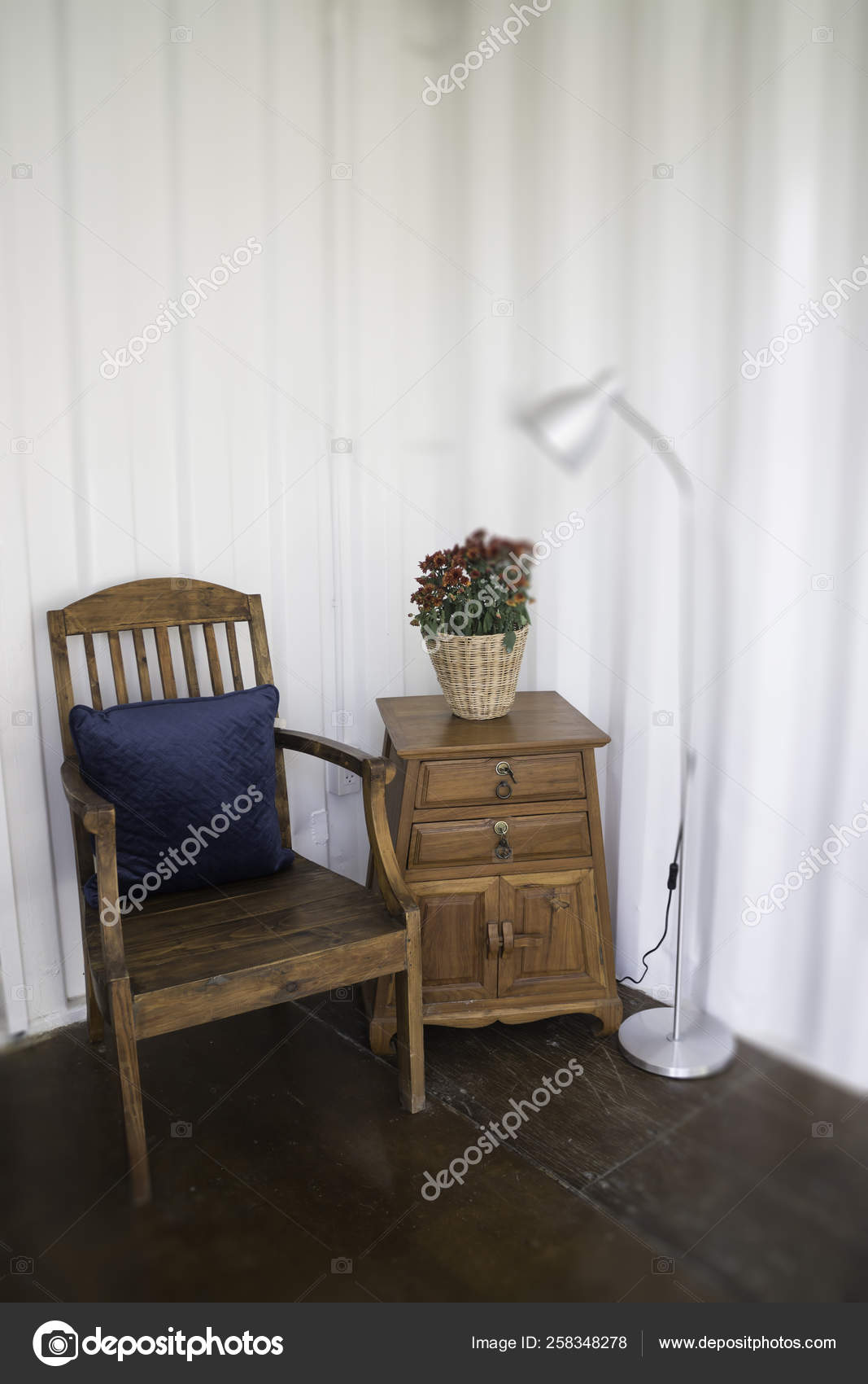 Cargo Container Cafe With Wooden Furniture Set Stock Photo C Nalinrat 258348278