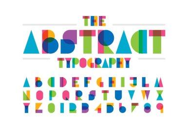 Abstract alphabet vector illustration stock vector
