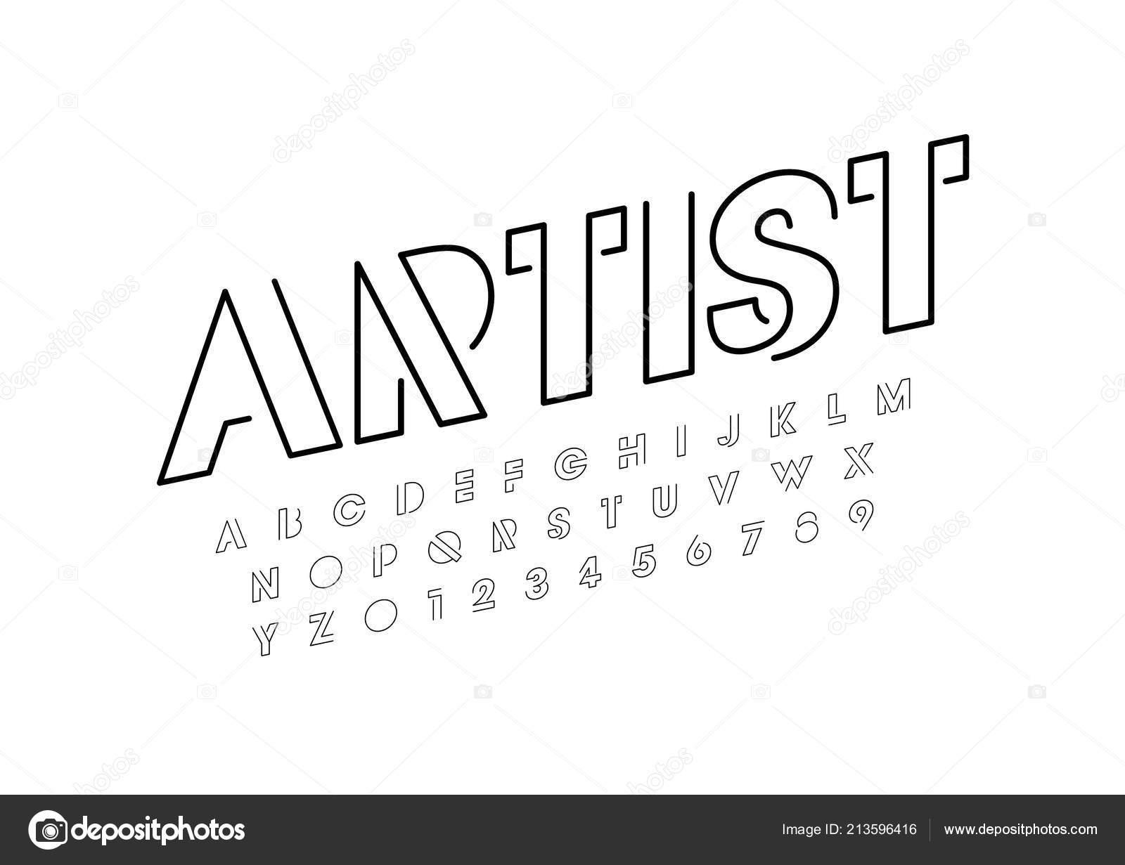 Artist Design Font Alphabet Template Colorful Vector Illustration Stylized Modern Stock Vector C Passionartist 213596416