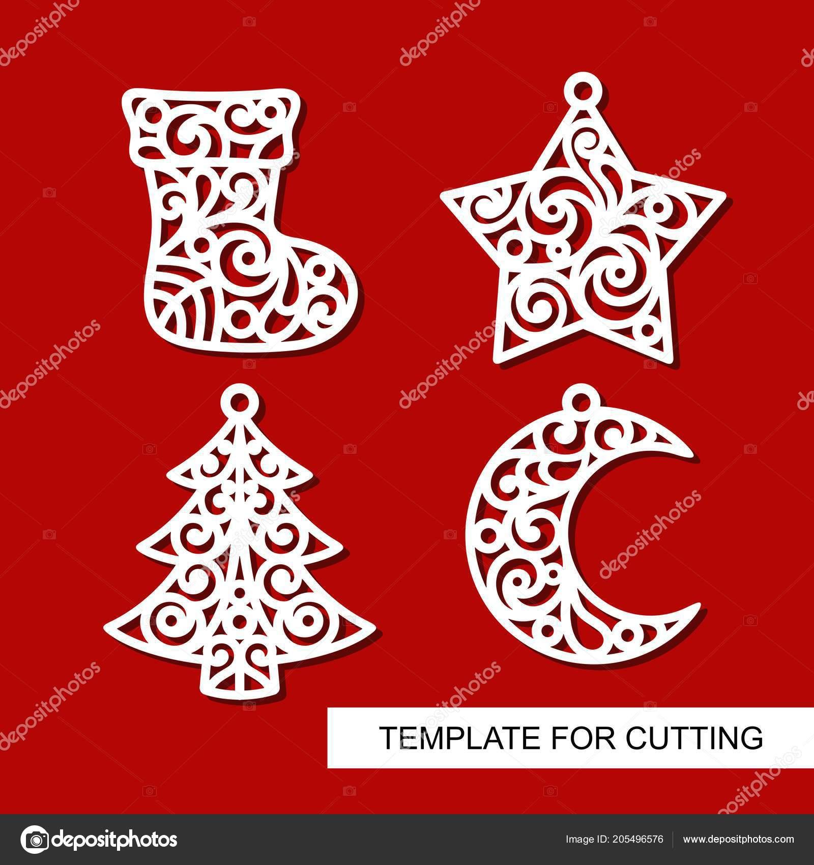 набор рождественские украшения носок звезда елки полумесяца