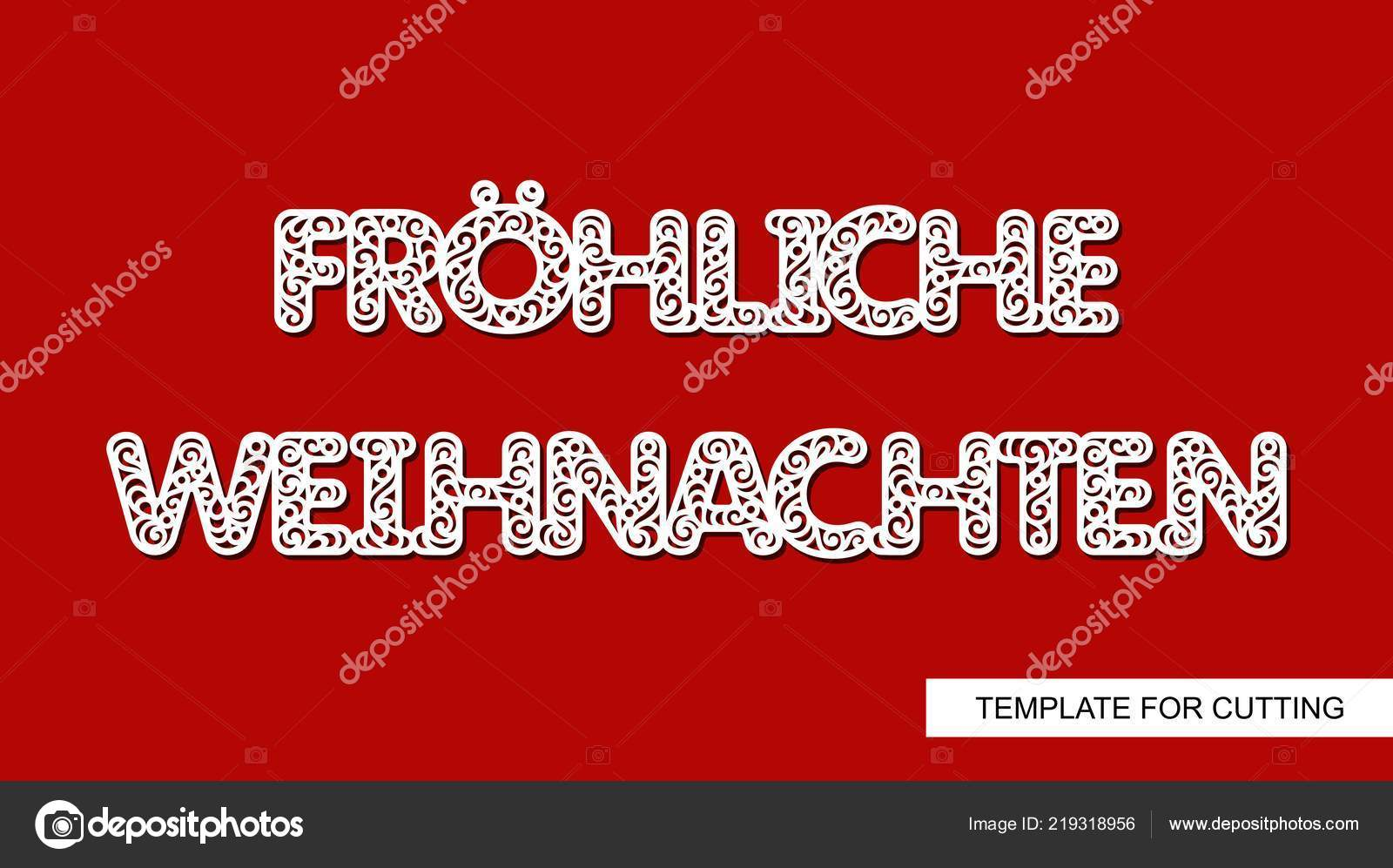 Buon Natale Del C Testo.Scritta Decorativa Natale Lingua Tedesca Frhliche Weihnachten Buon