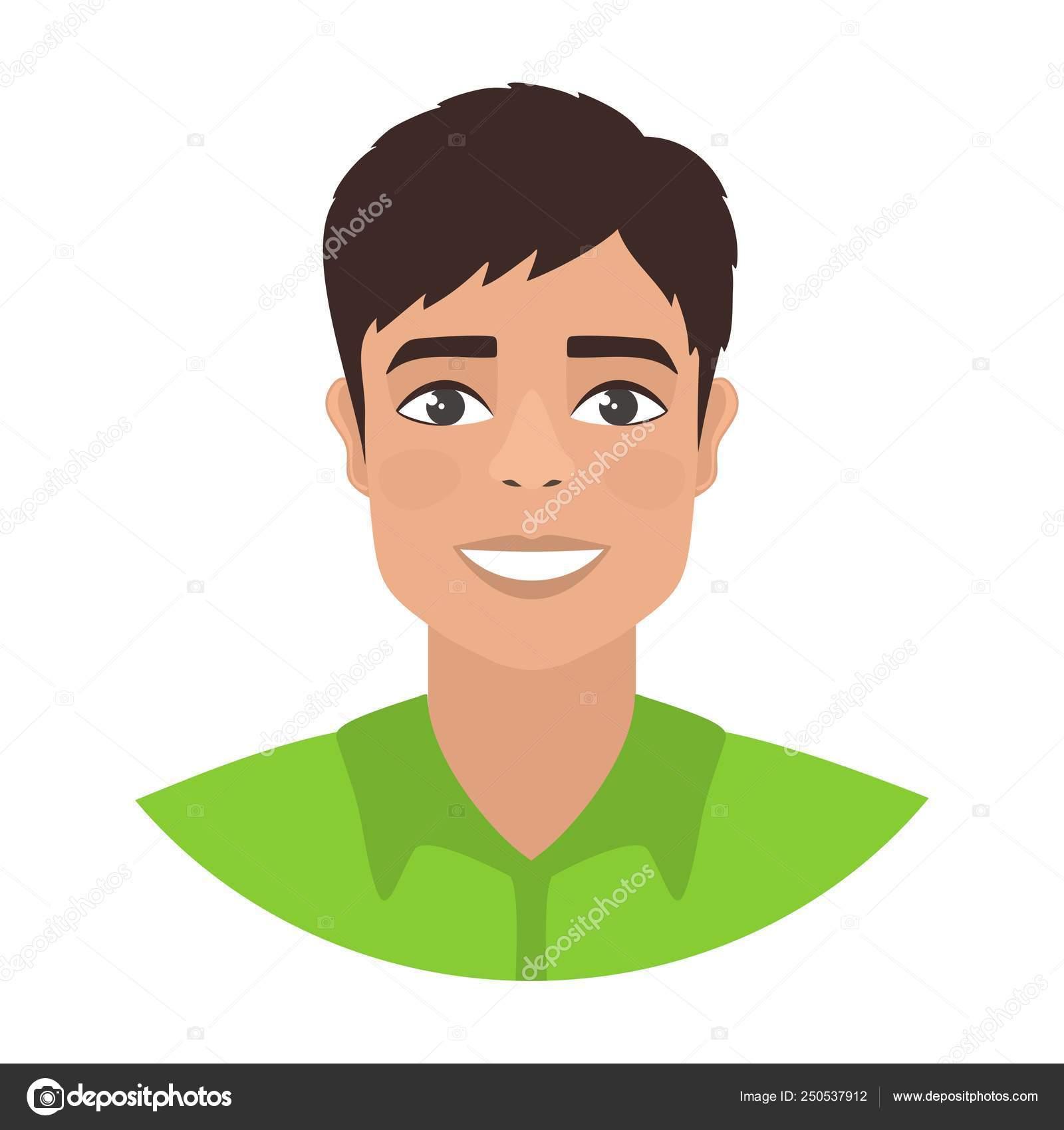 Brown Hair Boy Cartoon