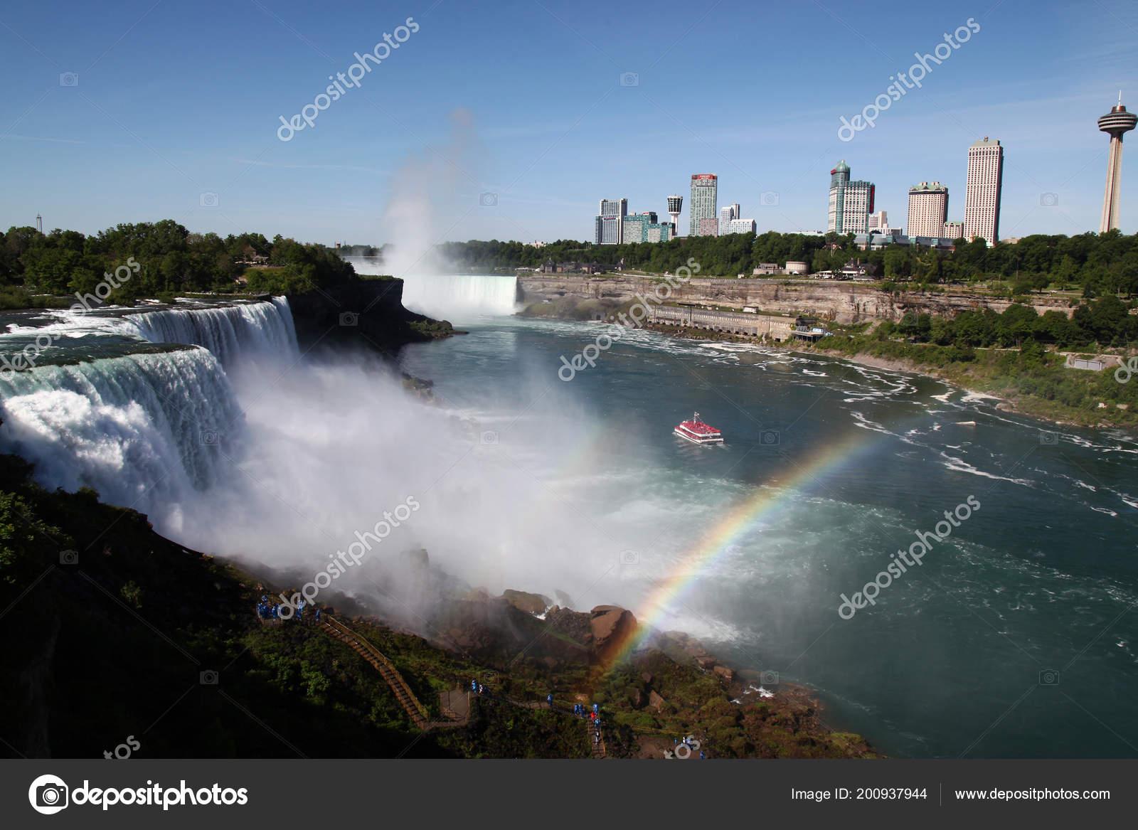 Landscape Niagara Falls American Side New York Usa Stock