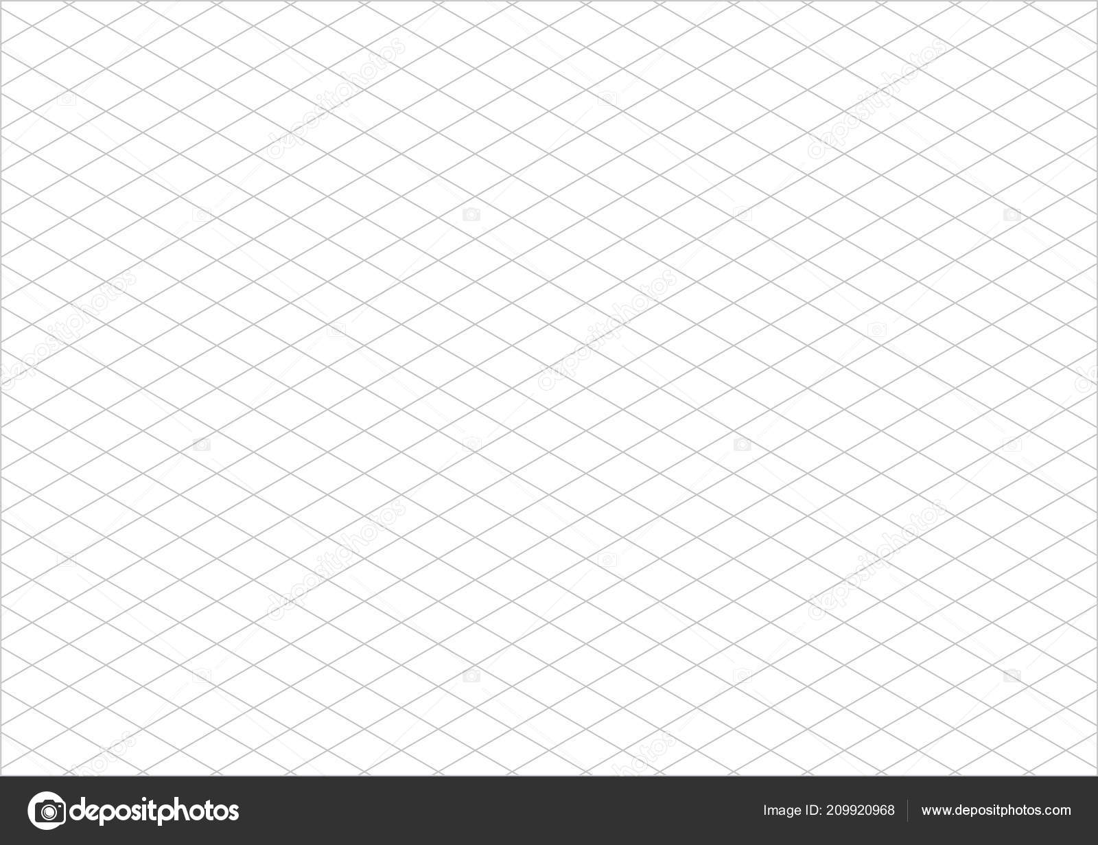 Isometric Grid Paper Landscape Vector — Stock Vector ...