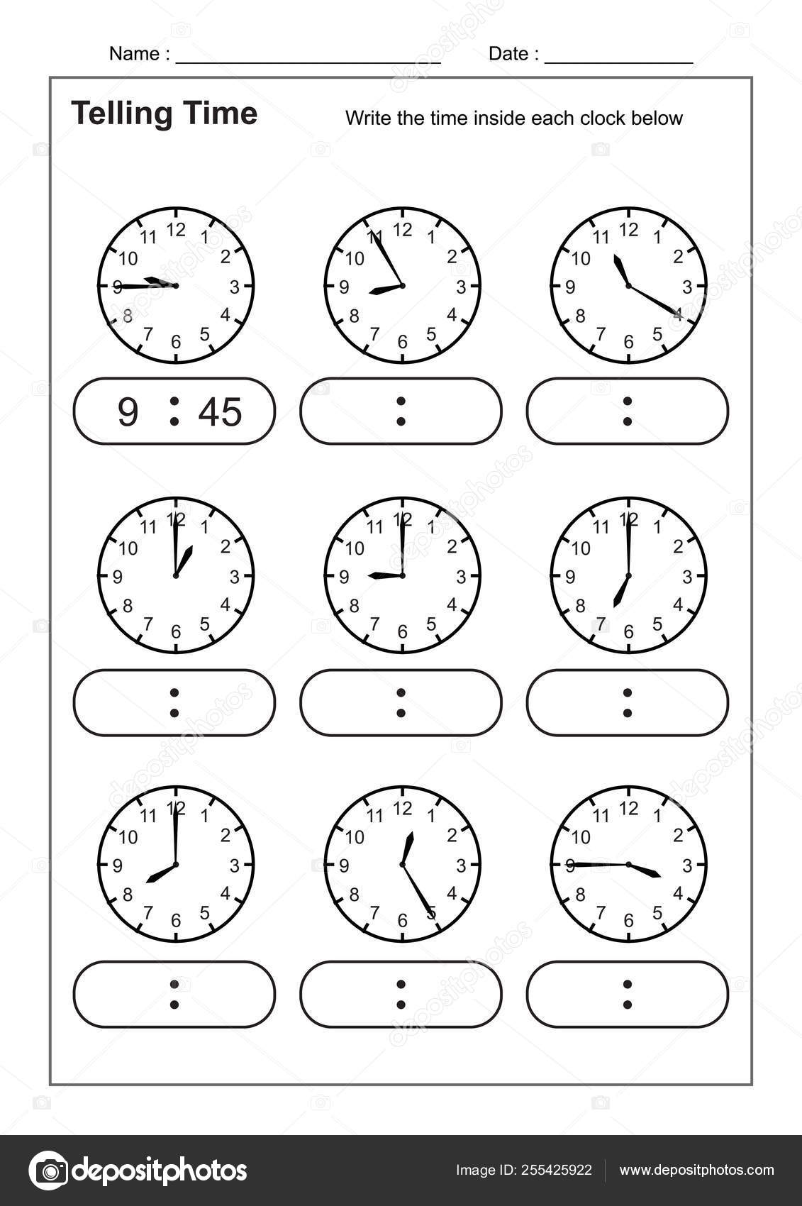 - Telling Time Telling Time Practice Children Time Worksheets