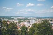 Panoráma města Brno, Česká republika. Pohled z hradu Špilberk, místní památka