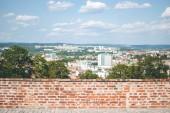Brno, Česká republika. Pohled z hradu Špilberk, místní památka
