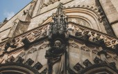 Photo Walls of Cathedral of St. Peter and Paul, Brno, Czech Republic. Gothic architectural elements