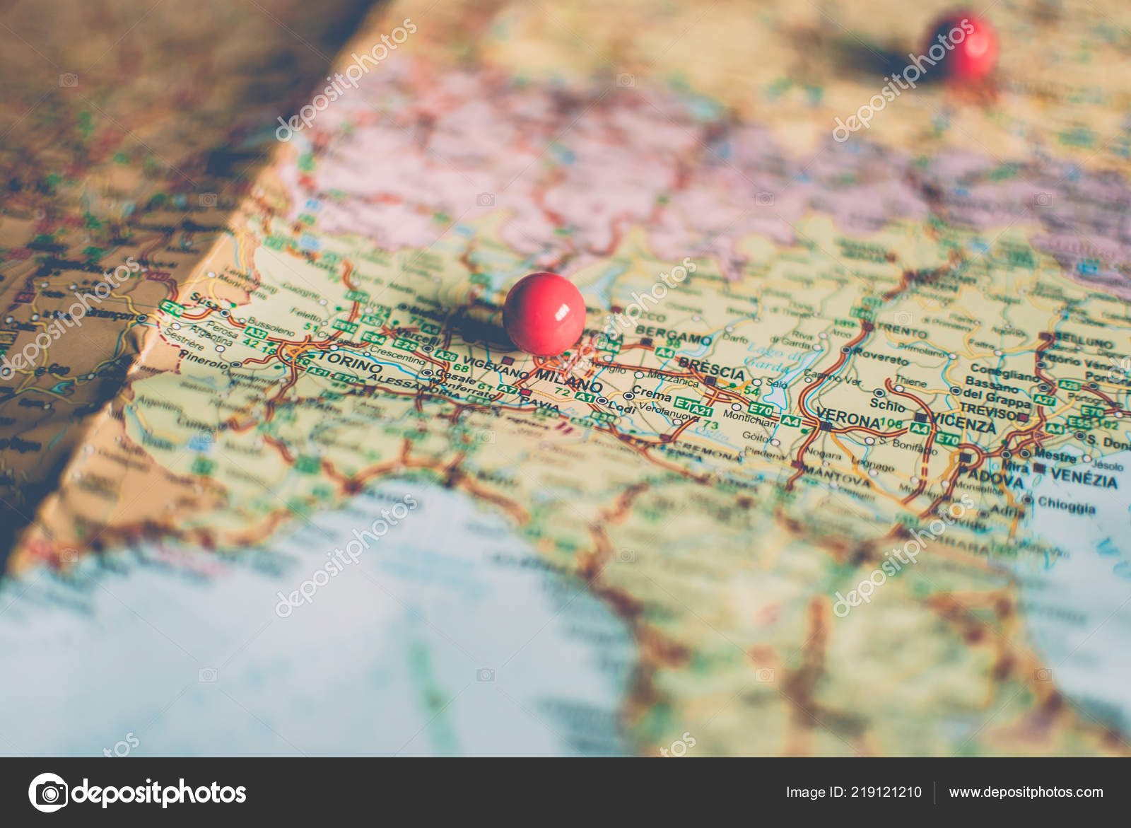 Picture of: Closeup Traveler Road Map Vintage Retro Colors Countries Cities Western Stock Photo C Yurii Zymovin 219121210