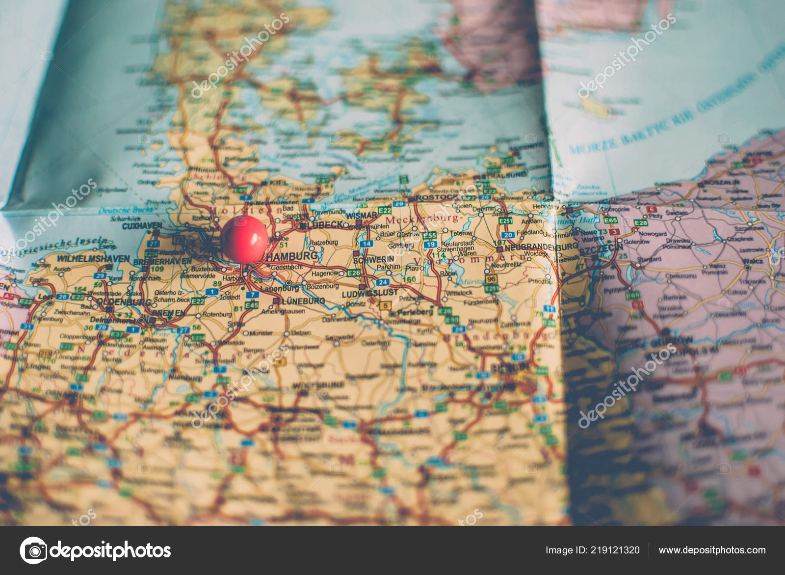 Picture of: Closeup Traveler Road Map Vintage Retro Colors Countries Cities Western Stock Photo C Yurii Zymovin 219121320
