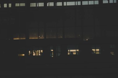 Black sillhouettes of a train on a subway station behind glass windows filled with sunshine