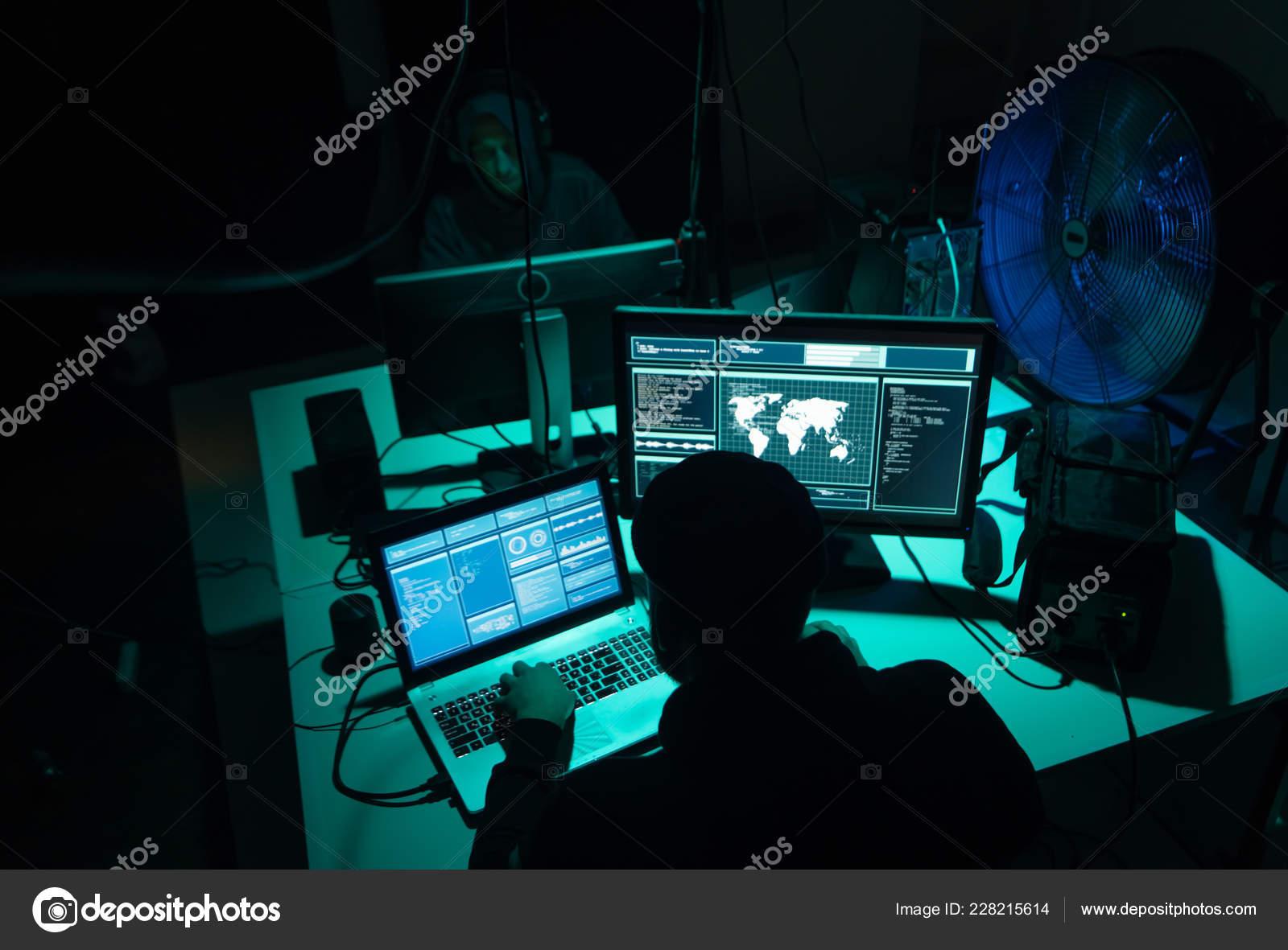 Internet Fraud Darknet Data Thiefs Cybergrime Concept Hacker