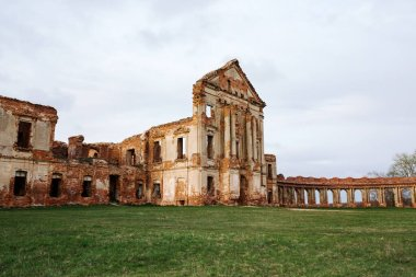 Ruzhany Palace, ruined building of Sapieha in village, Pruzhany district, Brest province, Western Belarus