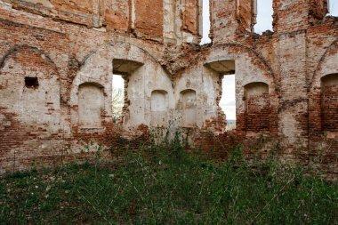 Ruined walls of Ruzhany Palace, ruined palace of Sapieha in Ruzhany village, Pruzhany district, Brest province, Western Belarus
