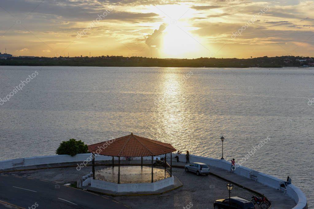 Sunset on the coast of Sao Luis in Brazil