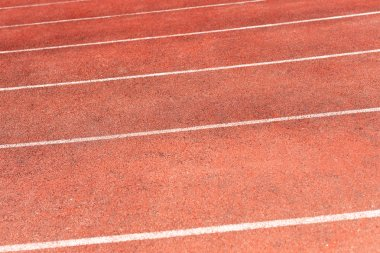Stadium track for running and athletics competitions. New synthe