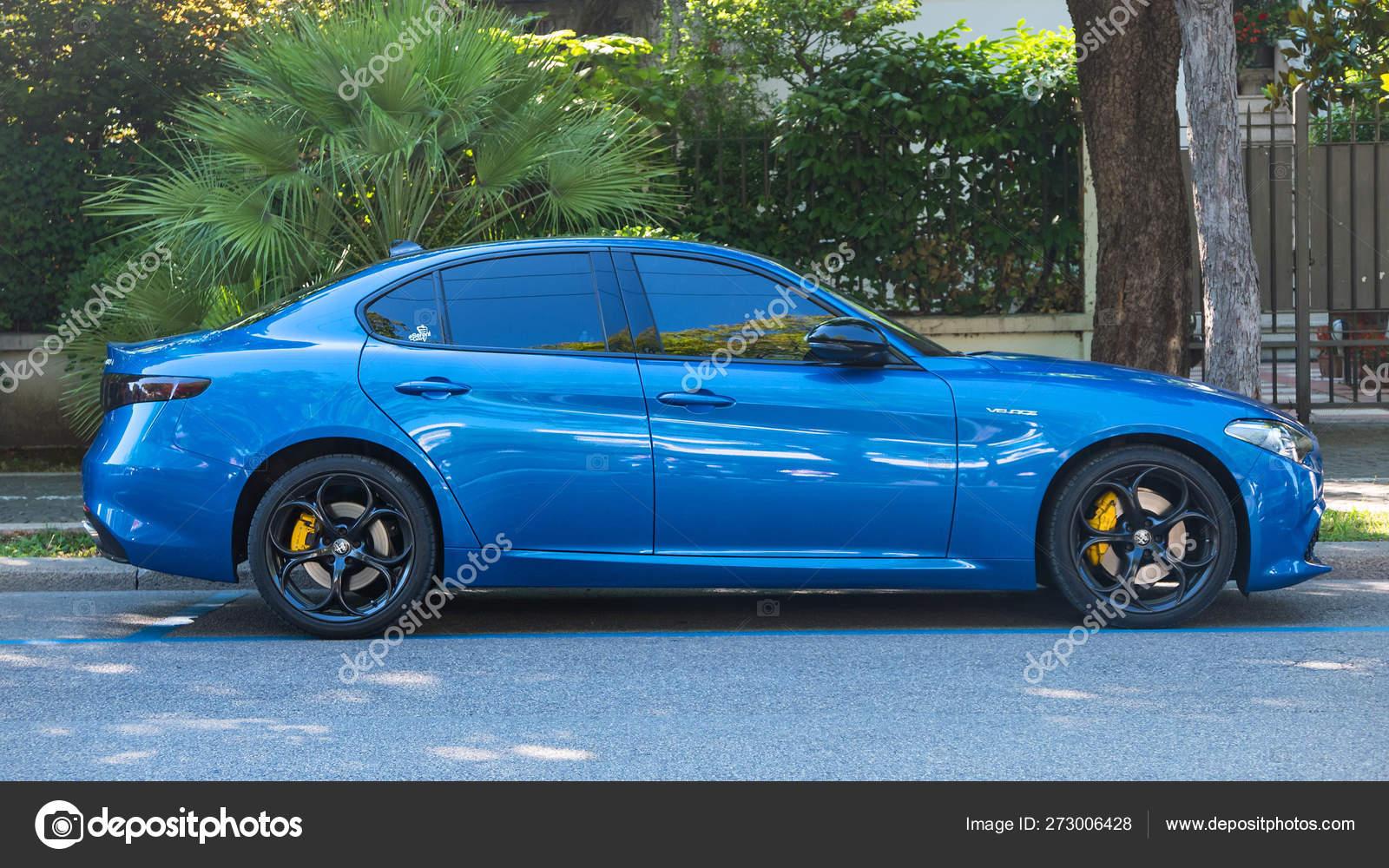 Blue Alfa Romeo Giulia Veloce Side View Stock Editorial Photo C Pio3 273006428
