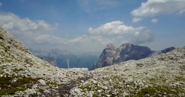 Scenic panoramic view of Dolomite mountains, Italy