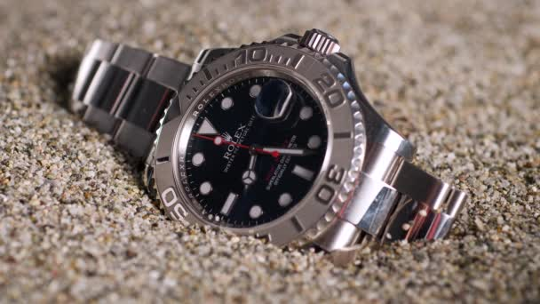 Close view of luxury expensive rolex clock