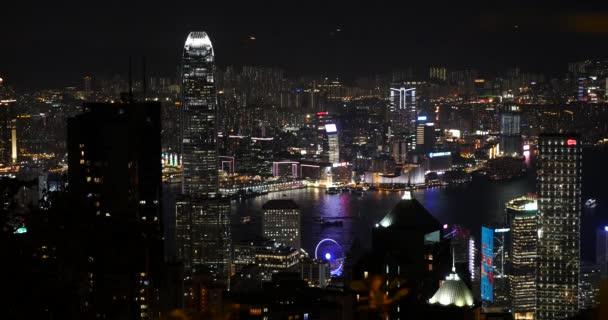 felvételeit megvilágított város éjjel, Hong Kong