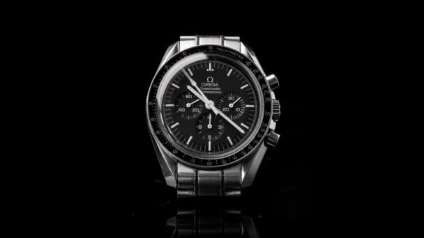 BOLOGNA, ITALY - SEPTEMBER 4, 2017: Omega Speedmaster Professional watch. Omega has been creating watches since the 19th century and was the first watch on the Moon.