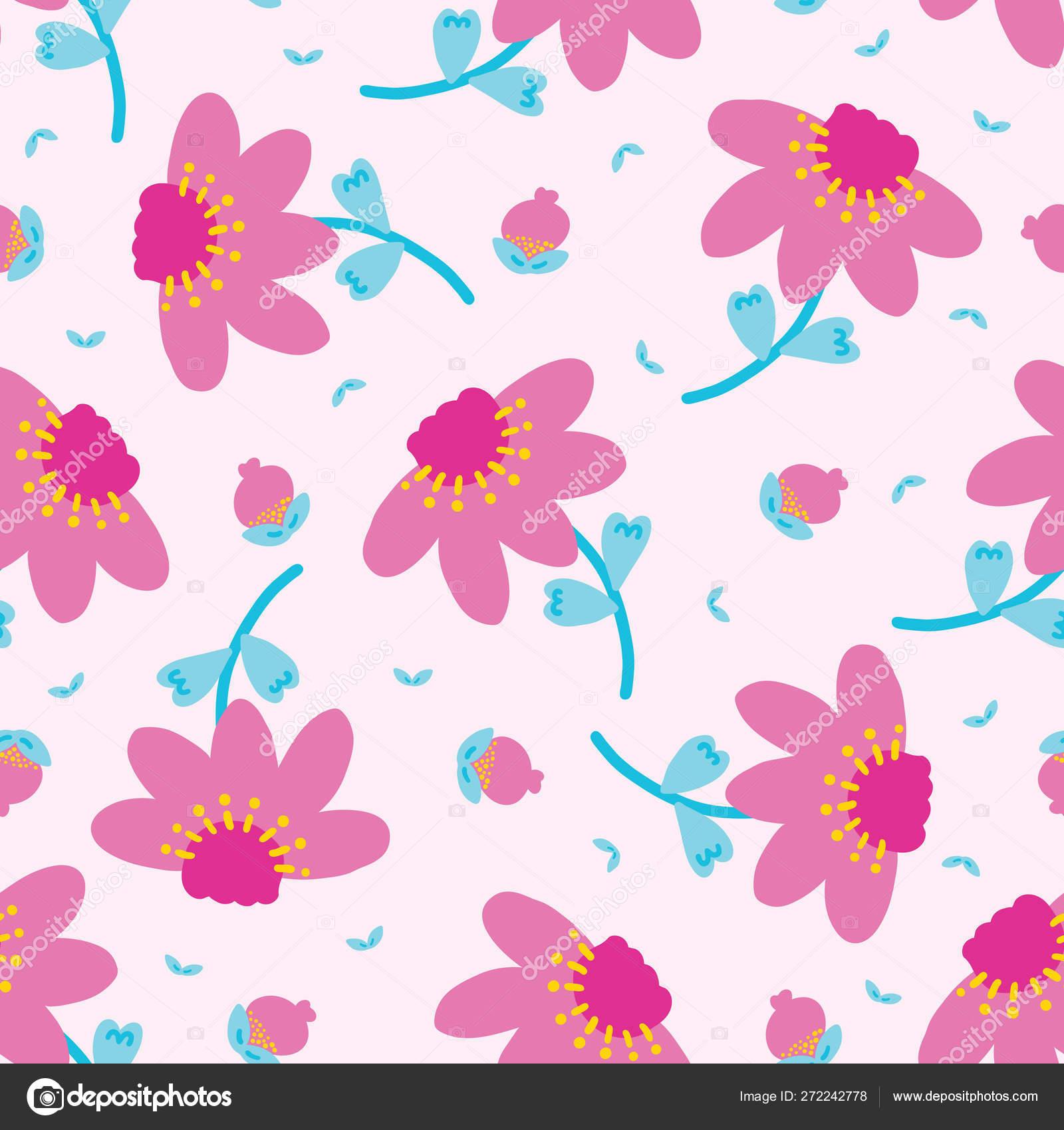 8caa58f4e168d Bright summer daisy flower bloom seamless pattern. Stylized retro ...