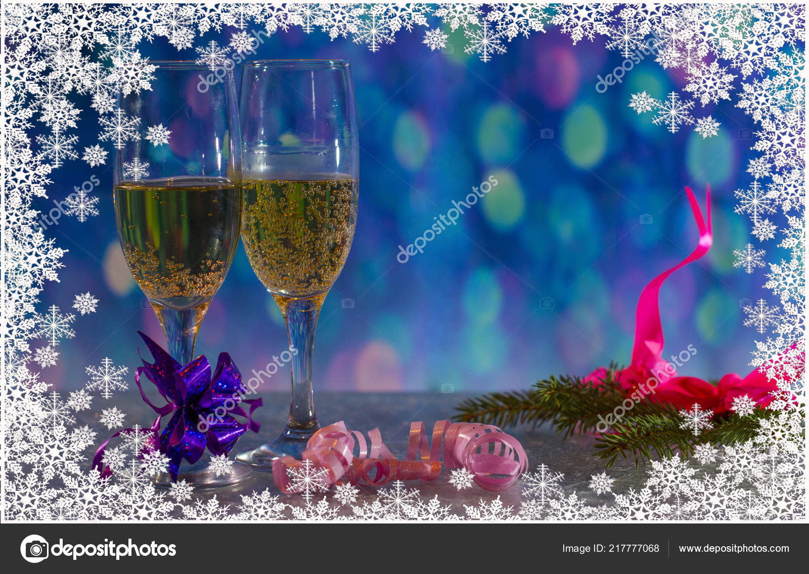 Mail On Christmas Eve 2019.New Year Eve 2019 Christmas Holiday Glass Champagne Stock