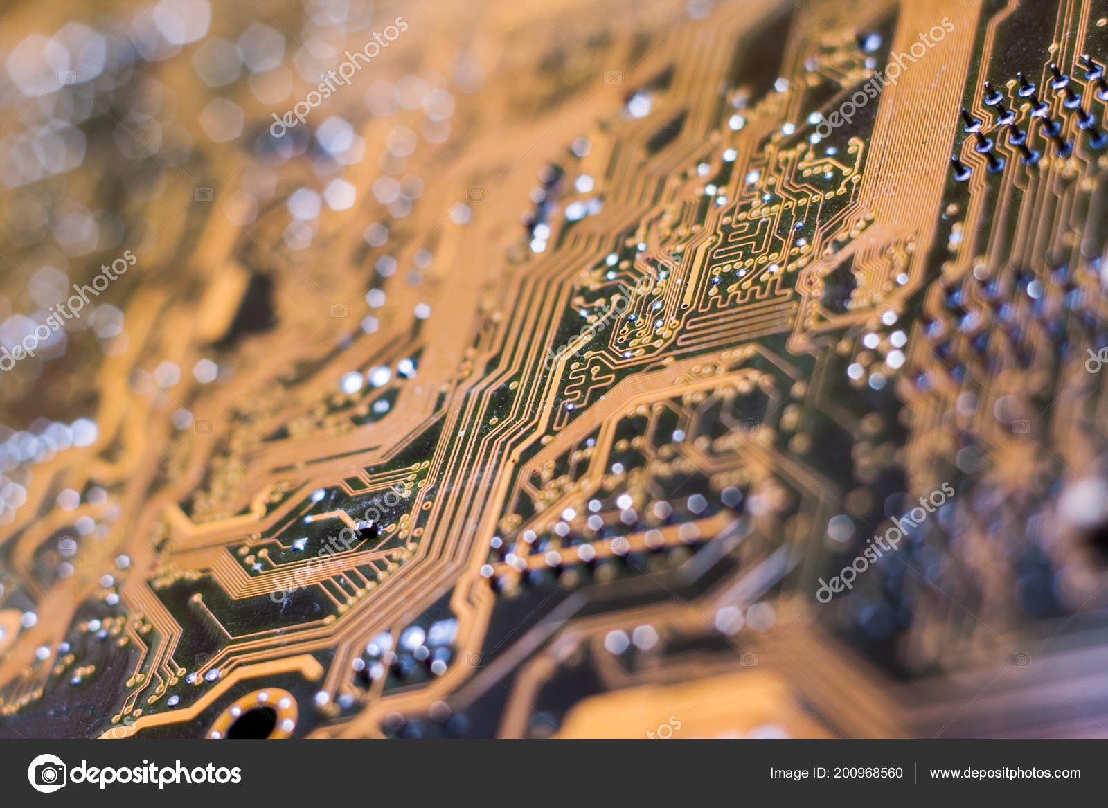 Printed Circuit Board Pcb Connects Electronic Electrical Components Of Transistors Capacitors And Other A Or Using Conductive Tracks From Copper Diodes Ic Chips Resistors
