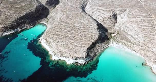 Vista Aerea Della Spiaggia Dei Conigli Vicino All Isola Lampedusa