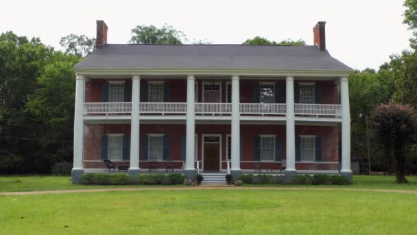 NEAR FAYETTE, MISSISSIPPI, USA - JULY 2018: Springfield Plantation with a mansion located near Fayette in Jefferson County, Mississippi, United States of America. Old building in the US National Register of Historic Places