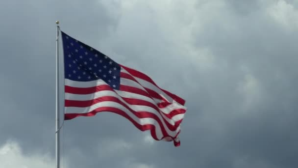US Flag Waving As Symbol Of American Nation