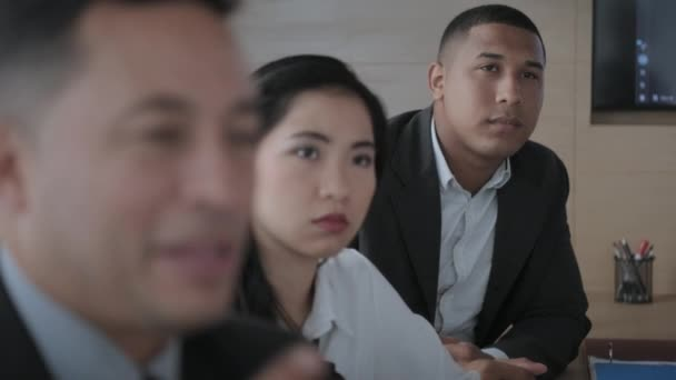 Group Of Asian Businesswoman Black Manager And Hispanic Businessman